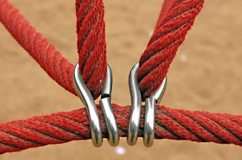 Línea de vida cuerda roja