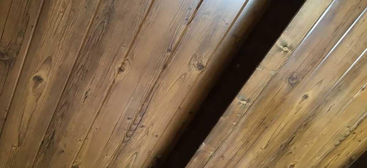 Panel teja acabado en madera interior
