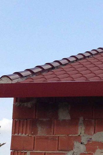 Panel teja rojo