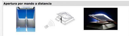 Claraboyas Murcia apertura mando a distancia