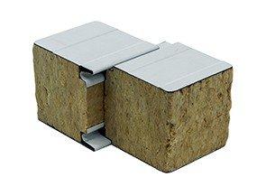 Panel sándwich lana de roca