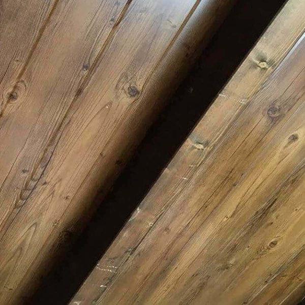 Panel sándwich teja imitación madera interior