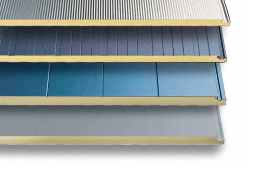 Panel sándwich de fachada microperfilado, perfilado, semiliso y liso
