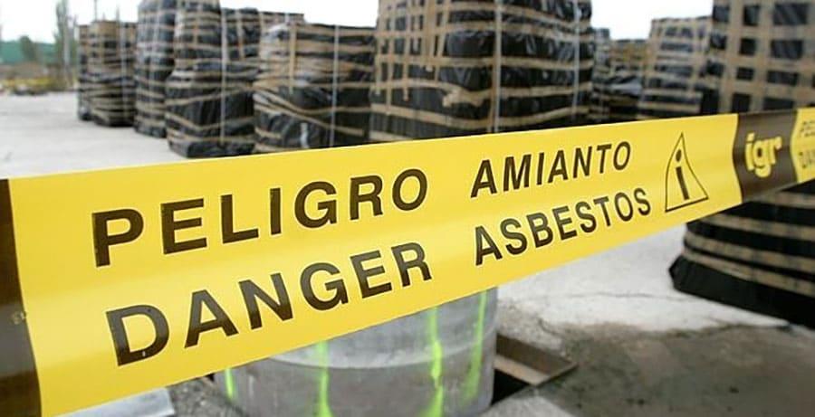 Cartel de peligro amianto